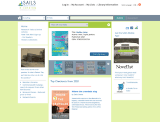 opac.sailsinc.org screenshot