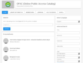 opac.unri.ac.id screenshot