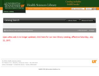 opac.uthsc.edu screenshot