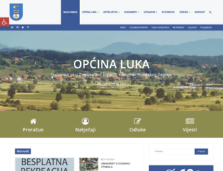 opcina-luka.hr screenshot