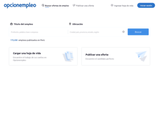 opcionempleo.com.pe screenshot