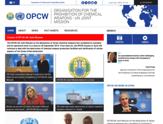 opcw.unmissions.org screenshot