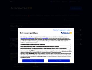 opel-astra.autobazar.eu screenshot