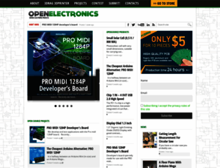 open-electronics.org screenshot