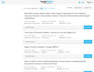 open-grants.insidegov.com screenshot