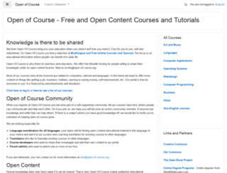 open-of-course.org screenshot