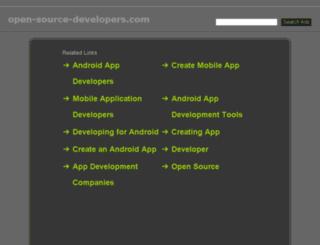 open-source-developers.com screenshot