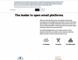 open-xchange.com screenshot