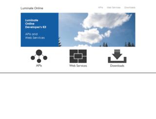 open.convio.com screenshot