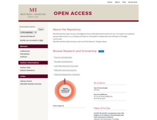 open.mitchellhamline.edu screenshot