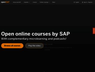 open.sap.com screenshot