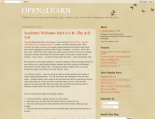 open2learn.blogspot.com screenshot