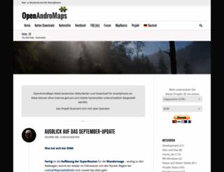 openandromaps.org screenshot