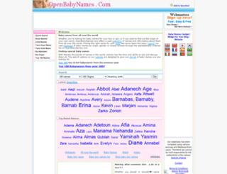 openbabynames.com screenshot