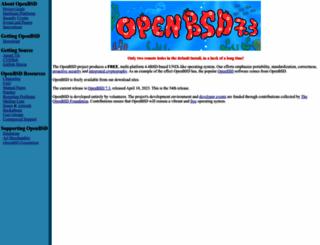 openbsd.org screenshot