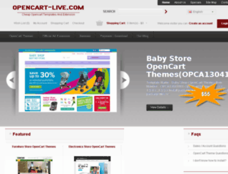 opencart-live.com screenshot