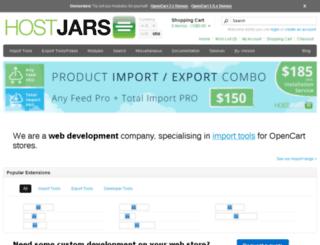 opencart.hostjars.com screenshot