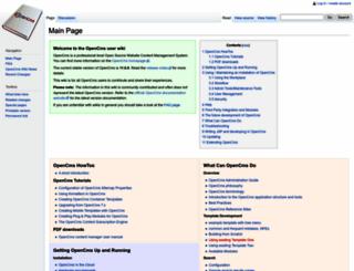 opencms-wiki.org screenshot