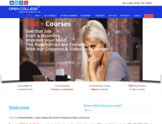 opencollege.info screenshot