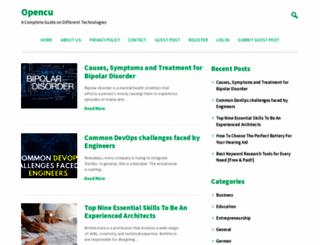opencu.org screenshot