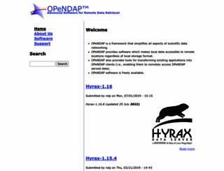 opendap.org screenshot