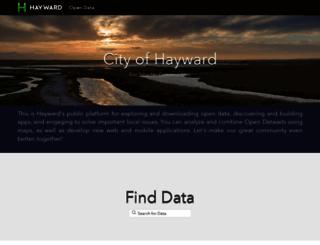 opendata.hayward-ca.gov screenshot