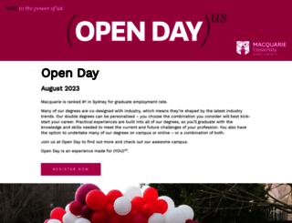 openday.mq.edu.au screenshot