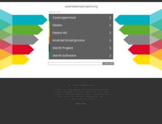 opendesireproject.org screenshot