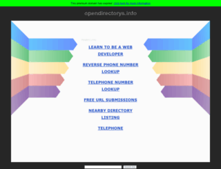 opendirectorys.info screenshot