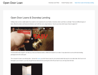 opendoorloan.co.uk screenshot