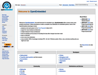 openembedded.org screenshot