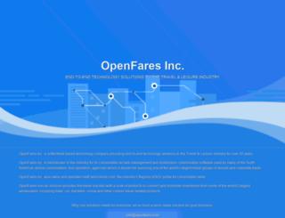 openfares.com screenshot