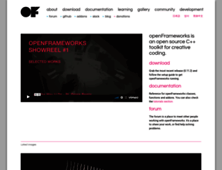 openframeworks.cc screenshot