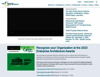 opengroup.org screenshot