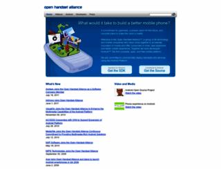 openhandsetalliance.com screenshot