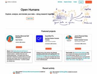 openhumans.org screenshot