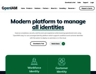 openiam.com screenshot