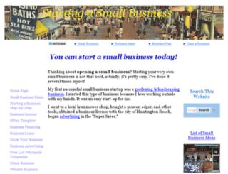 opening-a-small-business.net screenshot