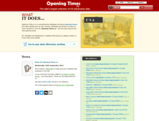 openingtimes.co screenshot