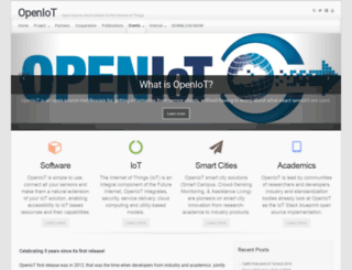 openiot.eu screenshot