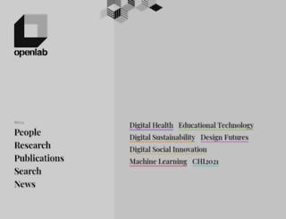 openlab.ncl.ac.uk screenshot