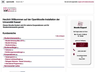 openmoodle.uni-kassel.de screenshot