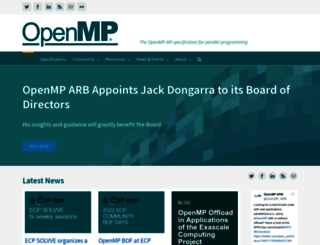 openmp.org screenshot