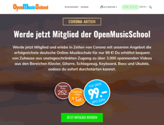 openmusicschool.de screenshot