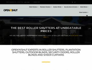 opennshut.com.au screenshot