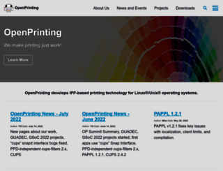 openprinting.org screenshot
