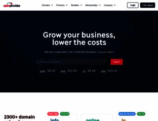 openprovider.com screenshot