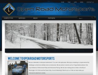 openroadmotorsports.com screenshot