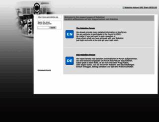 openrobotino.org screenshot
