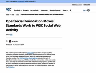 opensocial.org screenshot